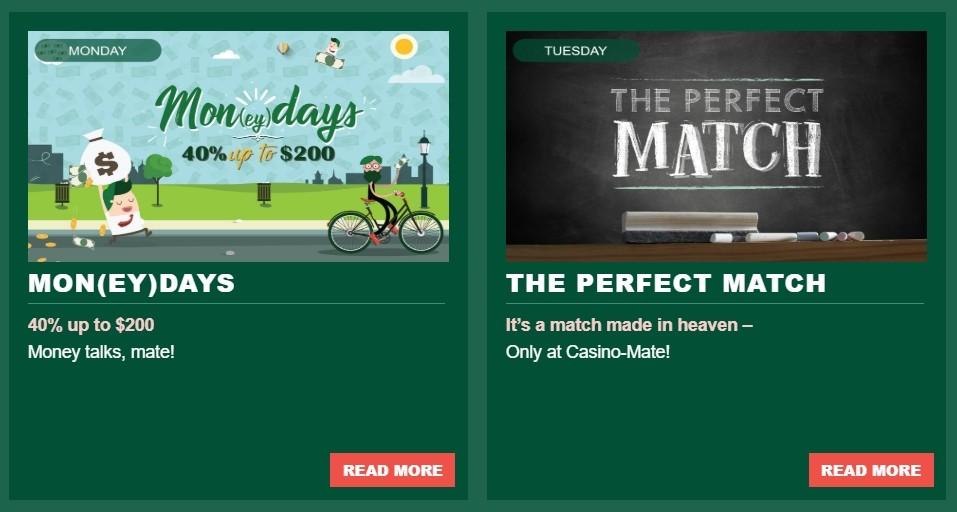 Casino-Mate montags Promotions und Met`s Rewards