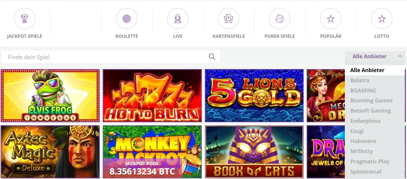CryptoWild Casino Spiele