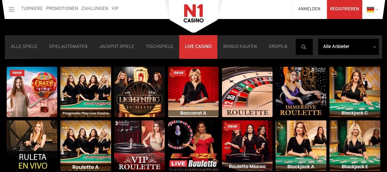 N1 Casino Live Dealer