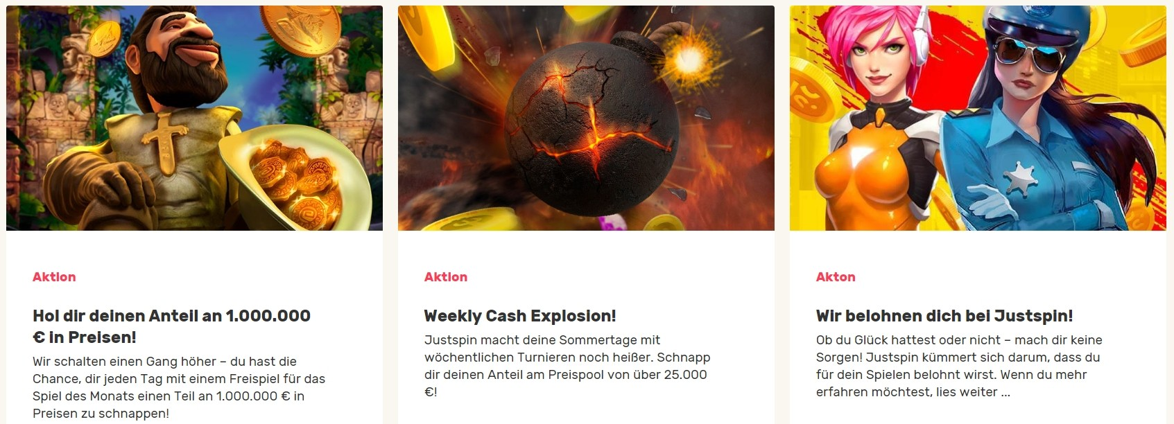 Justspin Casino Promotionen für Stammkunden