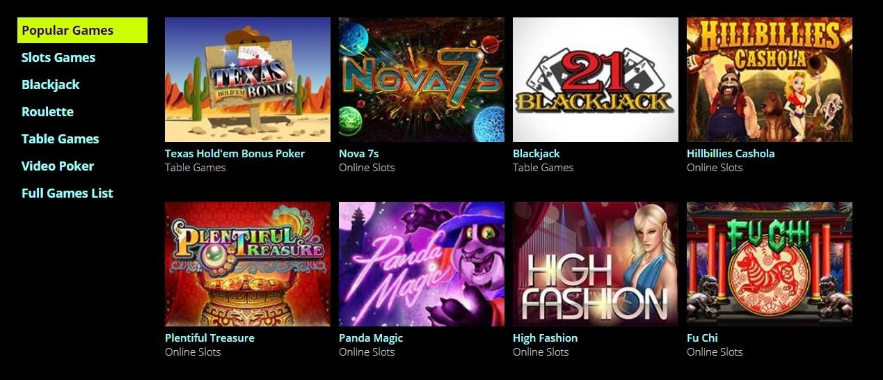Dreams Casino Spielauswahl