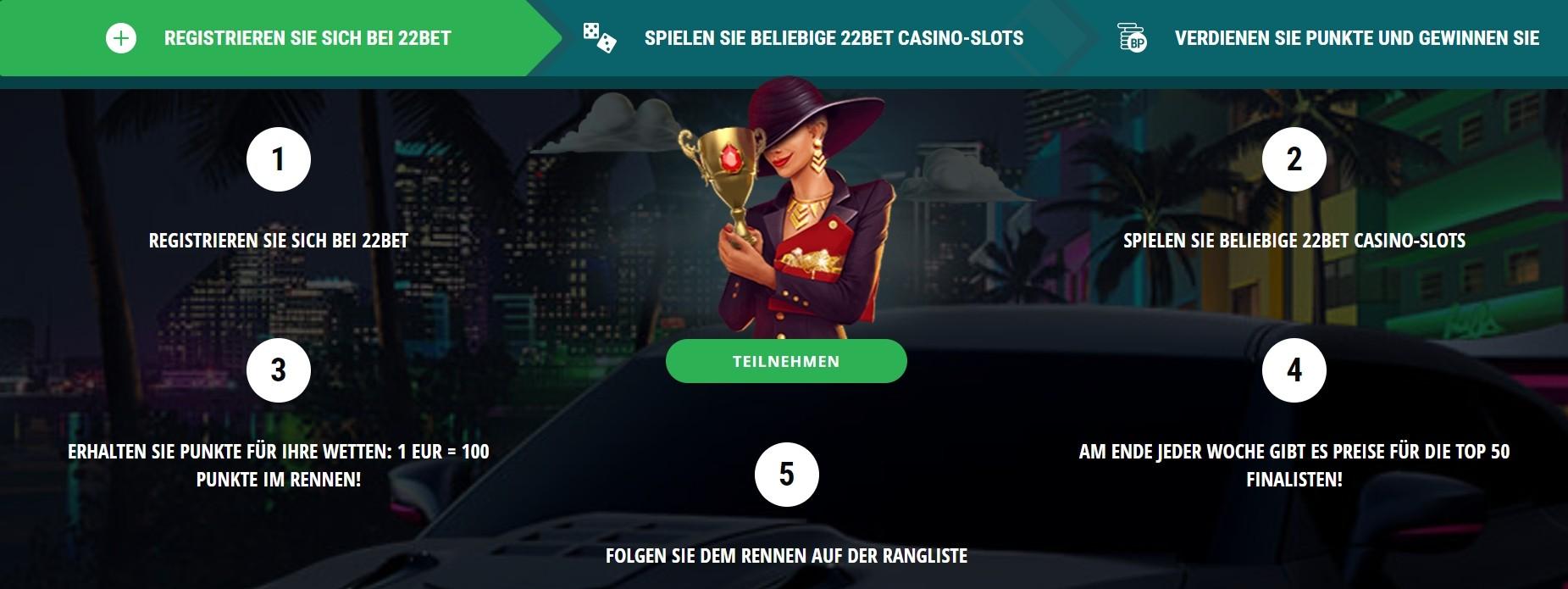 22bet Casino Echtes Geld