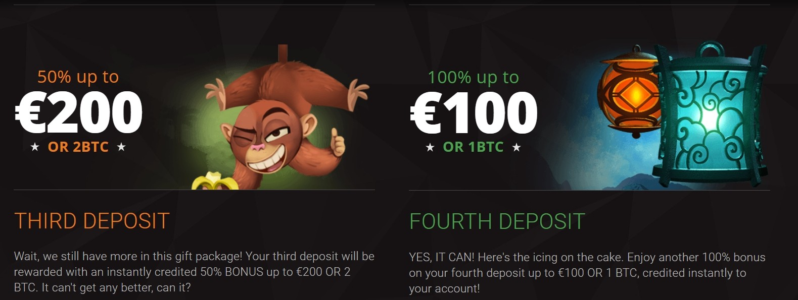 BitStarz Casino Bonus für den dritten und vierten Deposit