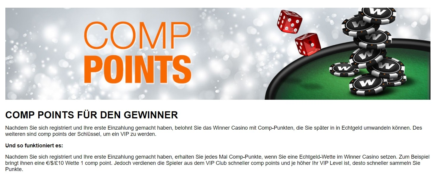 Winner Casino Treueprogramm