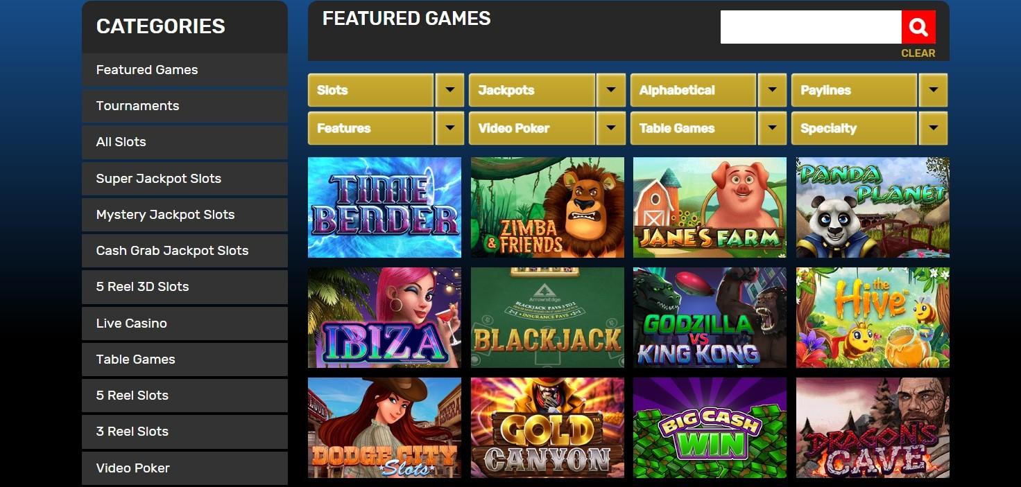 Drake Casino Spielauswahl