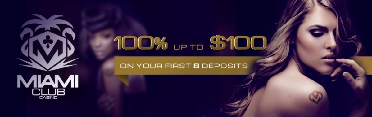 Miami Club 100%iger Casino Bonus