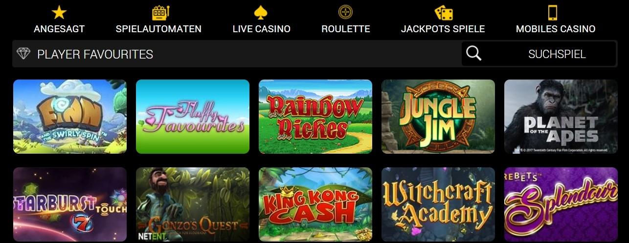 Conquer Casino Spieloptionen