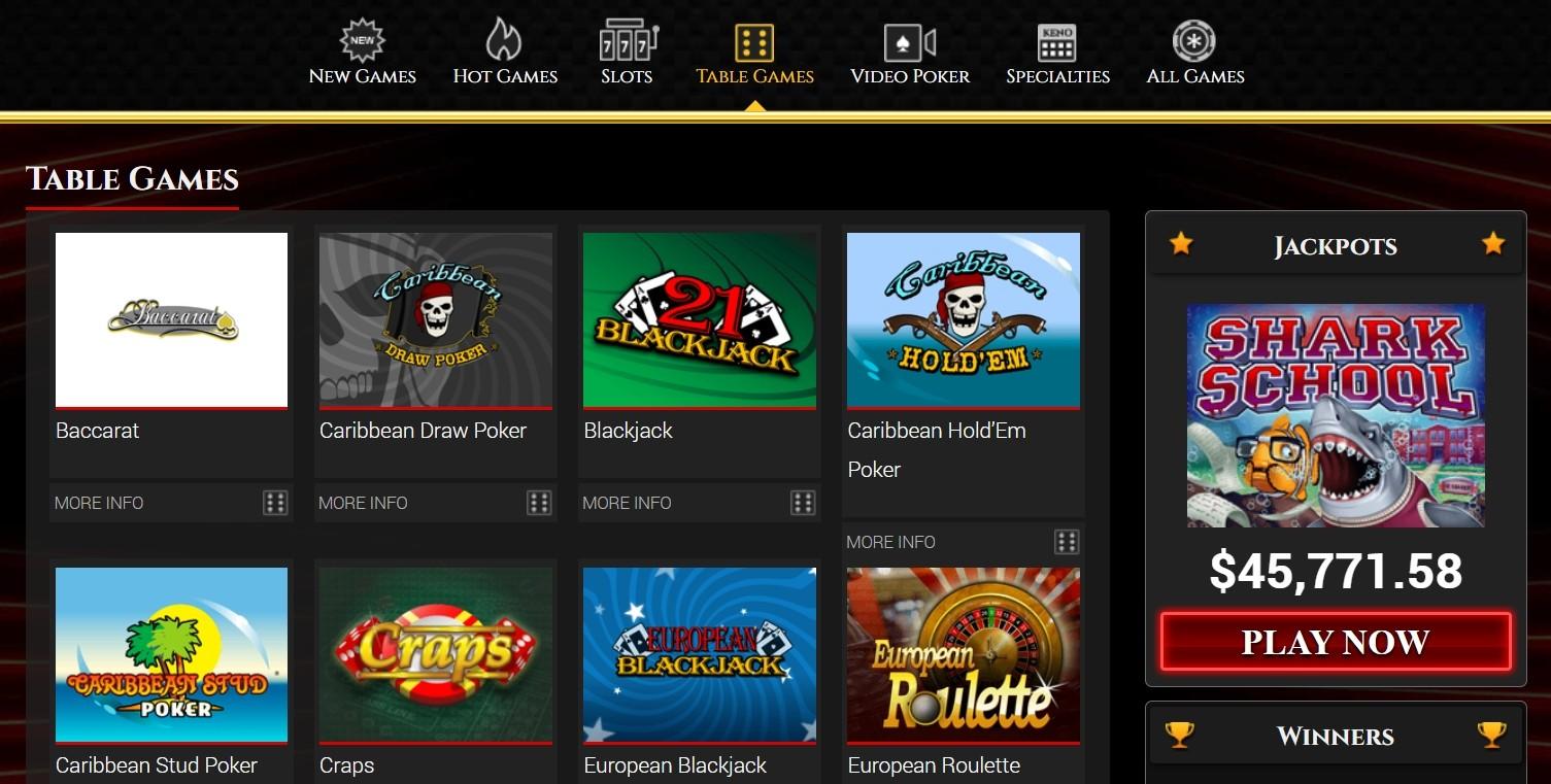 BoVegas Casino klassische Tisch- und Kartenspiele