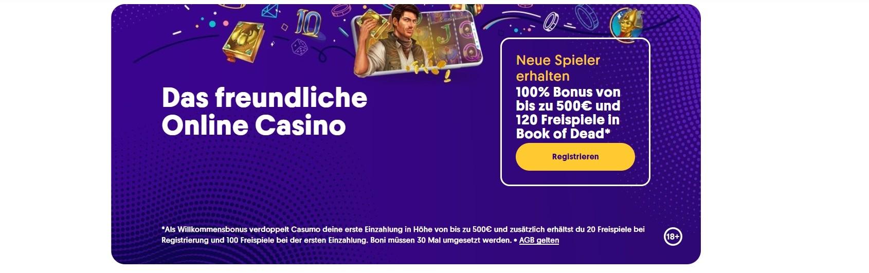 Casumo Casino Bonus für die erste Einzahlung