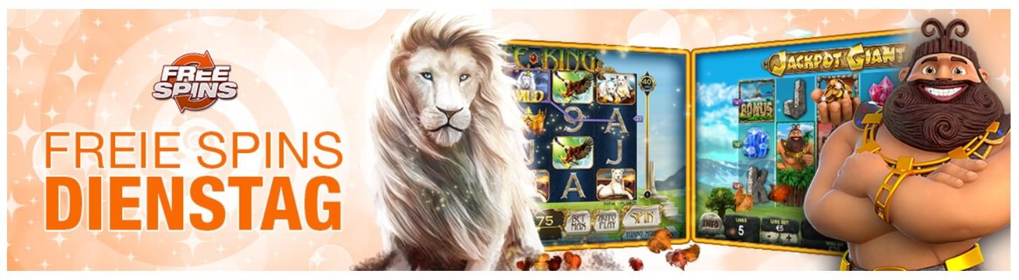 Winner Casino Freispiele dienstags an Spielautomaten